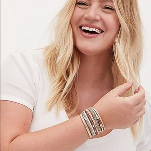 Torrid Magnetic Stacked Bracelet plus Size NWT